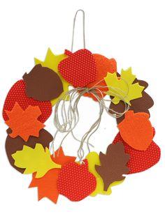 Creative Hands® text-ur® Foam Fall Wreath #kids #craft #fall #thanksgiving