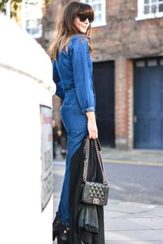#Jeans pants jumpsuit with blazer  #fashion blogger #style with boots, Chanel quilted bag. #womensewar