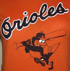 Vintage 1980's Baltimore Orioles Baseball T-Shirt $15.00
