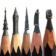 and Movie - Pencil Sculpture and Carving Talented multi disciplinary Russian Artist, Salavat Fidai applies his talents to various forms of art that include: Painting, Photography and Sculpting / Carving. In today's post we are going to cover. Pencil Carving, Graphite Art, Crayon Art, Pencil Art, Cool Artwork, Art Forms, Sculpture Art, Wooden Sculptures, Architecture Art