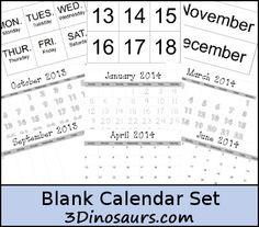 Free Blank Calendar Printables