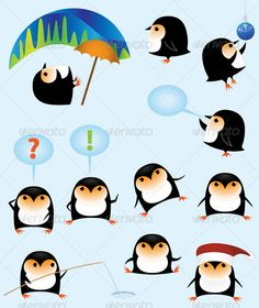Funny cartoon penguins  #GraphicRiver         Collection of funny cartoon penguins     Created: 5December11 GraphicsFilesIncluded: TransparentPNG #JPGImage #VectorEPS #AIIllustrator Layered: No MinimumAdobeCSVersion: CS Tags: Flippers #animal #antarctica #balloon #beak #black #blue #cap #cartoon #character #chilly #chubby #cold #collection #cute #fauna #fishingrod #fun #funny #icehole #orange #penguin #polarlights #set #stumpy #umbrella #vector #winter