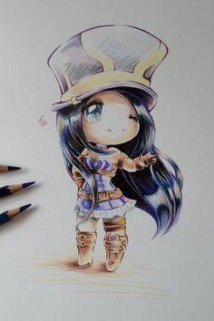 Chibi Caitlyn by Lighane on DeviantArt