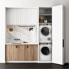 8 Tips for a Nordic Laundry - Post: 8 Tips for a Nordic laundry -> laundry decoration, laundry room, Interior decoration, Interio - Laundry Cupboard, Laundry Closet, Laundry Room Organization, Laundry In Bathroom, Laundry Cabinets, Utility Cupboard, Hidden Laundry, Laundry Chute, Garage Laundry