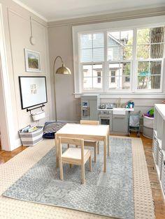 Sunroom Playroom, Playroom Layout, Living Room Playroom, Small Playroom, Playroom Storage, Office Playroom, Bedroom Layouts, Conservatory Playroom Ideas, Sunroom Office