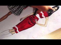 ERMANNO SCERVINO Part2. Satin Dress. Houndstooth Pattern