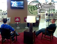 Come watch the game at the TEEZ® TV sports lounge!