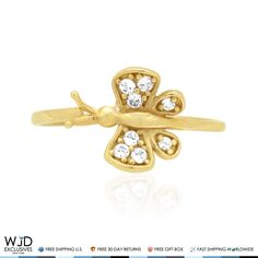 This Midi ring features eight simulated white diamonds cradled in pave setting of a 14k solid yellow gold butterfly and totaling 0.30Ct. Being an April birthstone white diamond makes a great gift for Aries and Taurus zodiac signs. Product Specifics   Metal 14k Yellow ...