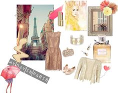 """My Day In Paris"" by rhinestonesandrouge on Polyvore"