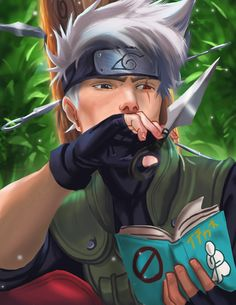 Kakashi Hatake reading one of his many Icha Icha books.