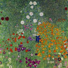 'Cottage Garden,' Klimt's 1907 view of a farm garden blooming with poppies, roses and daisies.