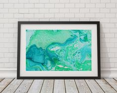 Marble Print  Art Poster by TheBohoWordsmith on Etsy
