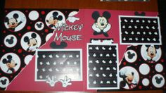 DISNEY MICKEY MOUSE Premade Layout Scrapbook PageS
