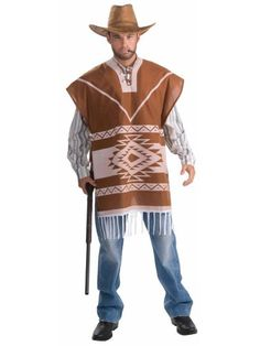 Old West Theme: Pair a poncho with jeans, boots, and a cowboy hat or sombrero for a south of the border look.