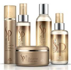 Luxe Oil Collection from Wella Sp. I use the far left Light Oil spray most days. Leave In, Joelle, Going For Gold, Hair Skin Nails, Hair Restoration, Girly Things, Beauty Makeup, Shampoo, Hair Treatments