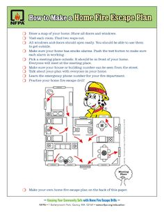 Life After Empty Nest: Fire Prevention Week - Home Fire Escape Plan