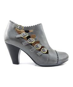 Charcoal Cherita Leather Bootie