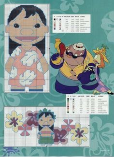 Lilo e Stitch Lelo And Stitch, Lilo Y Stitch, Stitch Cartoon, Disney Cross Stitch Patterns, Cross Stitch Charts, Cross Stitch Designs, Disney Stitch, Cross Stitching, Cross Stitch Embroidery
