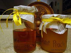 Home Brewed Bourbon with Peach Nectar!