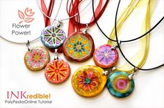 PolyPediaOnline - INKredible_PolymerClay_AlcoholINKS_Tutorial- Purchase. I love her work
