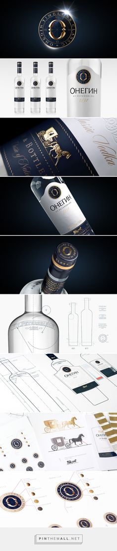 Onegin Vodka packaging design by MILDBERRY - http://www.packagingoftheworld.com/2017/02/onegin-vodka.html