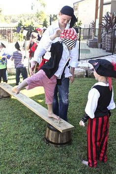 walking the plank game {pirate party}