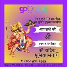 May Lord Hanuman shower his blessings on you and your family always.  Happy Hanuman Jayanti  #Goonlinewebsolutions #chandigarh #hanumanjayanti #lordhanuman #hanumanji #hanumanasana #jaihanuman #india #hinduism #ram #bajrangbali Happy Hanuman Jayanti, Go Online, Chandigarh, Your Family, Digital Marketing, Blessed, Lord, Shower, Memes