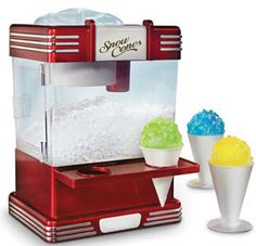 Small Snow Cone Machine - The Counter top Snow Cone Machine is designed to easily fit in your kitchen so you can make great tasting snow cones at home.  #food #summer
