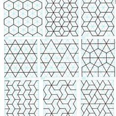 A huge collection of beautiful geometric patterns that could be adapted to quilting More