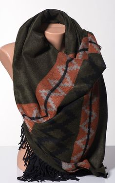 Fall Autumn OVERSIZE Scarf or Shawl or Neck by scarfstore2012