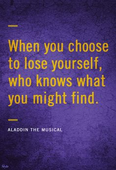 Have you seen Aladdin the Musical on Broadway yet? Trust us when we say, you ain& never seen a show like this. Musical Theatre Quotes, Broadway Quotes, Music Quotes, Broadway Lyrics, Aladdin Quotes, Disney Quotes, Aladdin Broadway, Aladdin Musical, Jasmine