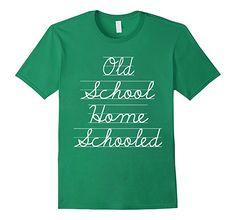 Amazon.com: Old School Home Schooled Cursive Chalkboard T-shirt: Clothing