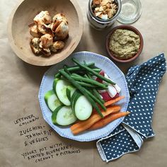 Easy Healthy Lunch Boxes from Julia Turshen: Zucchini-Tahini Dip + Roasted Blueberry Yogurt Pot