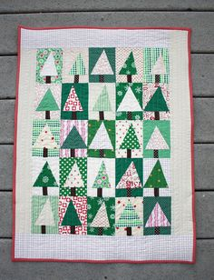 patchwork-christmas-tree-block-quilt-tutorial | Tutorial: ww… | Flickr - Photo Sharing!