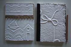quaderni realizzati con carta fatta a mano Manolibera, design Giulia Forti