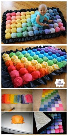 DIY Bubble Quilt or Biscuit Quilt Puff Blanket Tutorial + Video Quilt Baby, Baby Quilt Patterns, Bag Patterns To Sew, Rag Quilt, Scrappy Quilts, Puff Blanket, Bubble Blanket, Bubble Quilt, Diy Puffs