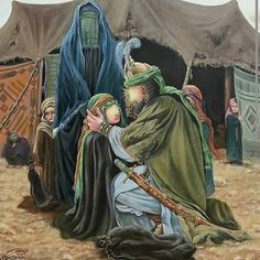 Imam hussain final farewell. To His  4 year old daughter sukaina in karbala