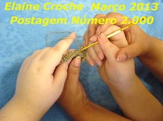 Elaine Croche: Vídeo Aula Crochê - Tapete Pink Doo - 1ª Parte