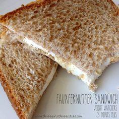 fauxfernutter sandwich - weight watchers 3 points+. PB2 and marshmallow fluff : three girls three cities