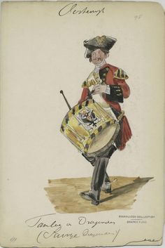 Items Tambour v. War Drums, Seven Years' War, My War, How To Play Drums, Tambour, 19th Century, North America, Military Uniforms, Napoleonic Wars