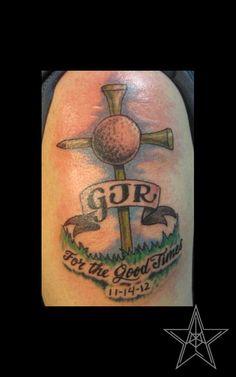 golf tattoos - Google Search Sport Tattoos, Dad Tattoos, Cool Tattoos, Motocross Wedding, Golf Club Art, Golf Tattoo, Anniversary Tattoo, Golf Pictures, Golf Videos