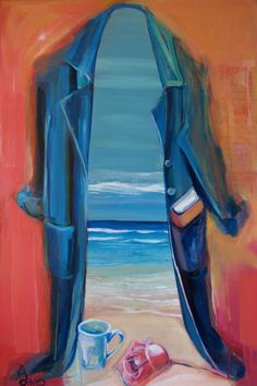 "Rebecca Davies 'Inner Landscape' 24"" x 36""  acrylic on panel"