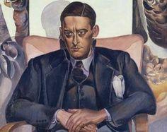 T. S. Eliot (26 september 1888 – 4 januari 1965) - Portret door Wyndham Lewis, 1938