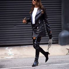 Thigh high boots are very hot right now!