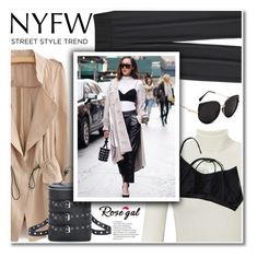 """""""NYFW Street Style: Day One"""" by fshionme ❤ liked on Polyvore featuring Miss Selfridge, StreetStyle and NYFW"""