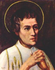 Saint Louis-Marie Grignion de Montfort holy card, date and artist unknown - http://catholicsaints.info/saint-louis-marie-grignion-de-montfort/
