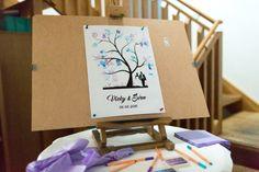 Fingerabdruck Baum Hochzeit Container, Newlyweds