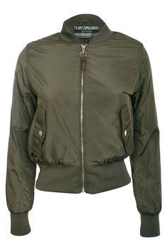 Christabel Bomber Jacket in Khaki Green
