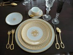 hermes china and flatware.  royal.