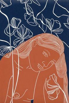 """Ease """"Ease"""" by Ellen Von Wiegand. Linocut on Paper, Subject: Nudes and erotic, Unspecified style, From a limited edition of Signed and number Art And Illustration, Gravure Illustration, Kunst Inspo, Art Inspo, Linocut Prints, Art Prints, Art Graphique, Oeuvre D'art, Art Paintings"""